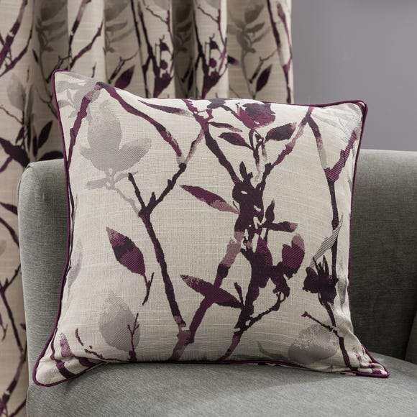 Zen Jacquard Cushion Plum Purple