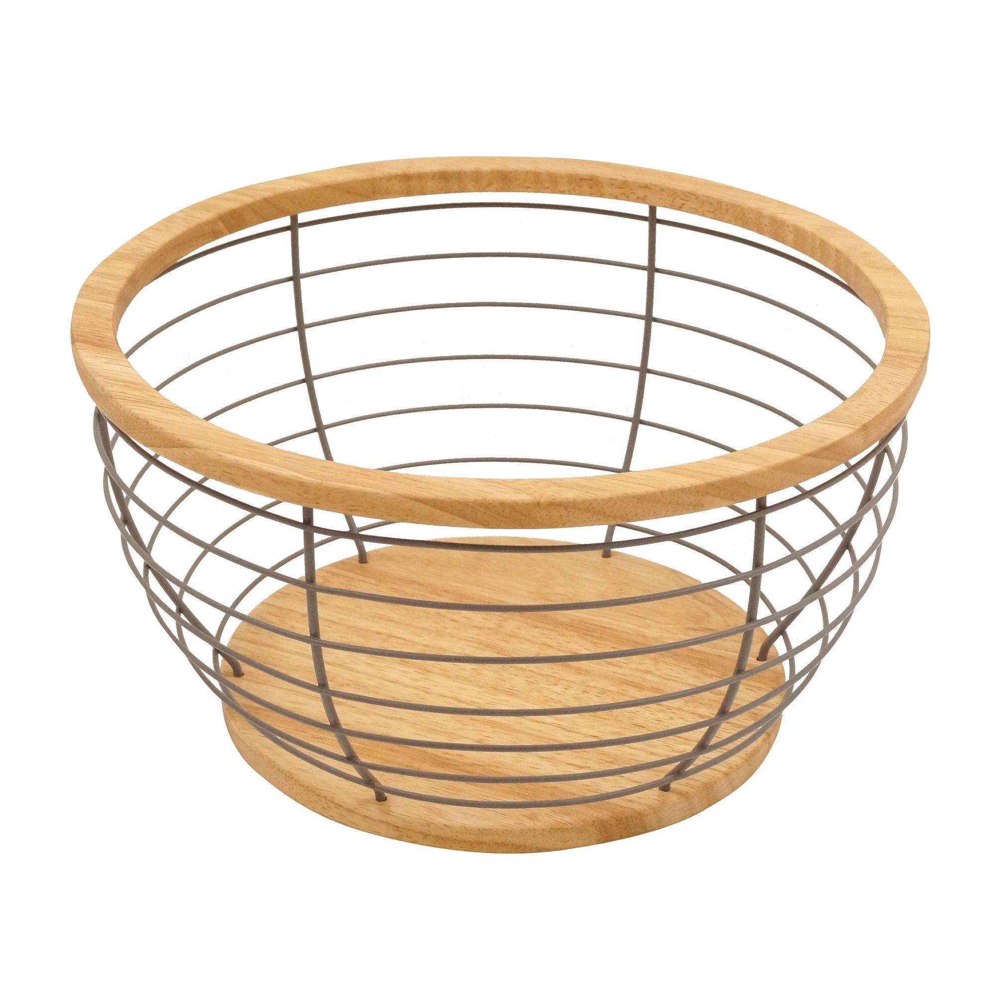 Wooden Fruit Bowl Brown