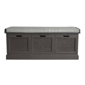 Lucy Cane Charcoal Storage Bench