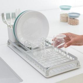 Brabantia Sinkside Light Grey Compact Dish Drying Rack