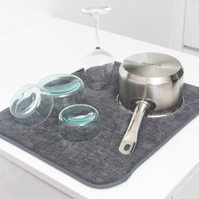 Brabantia Sinkside Dark Grey Microfibre Dish Drying Mat