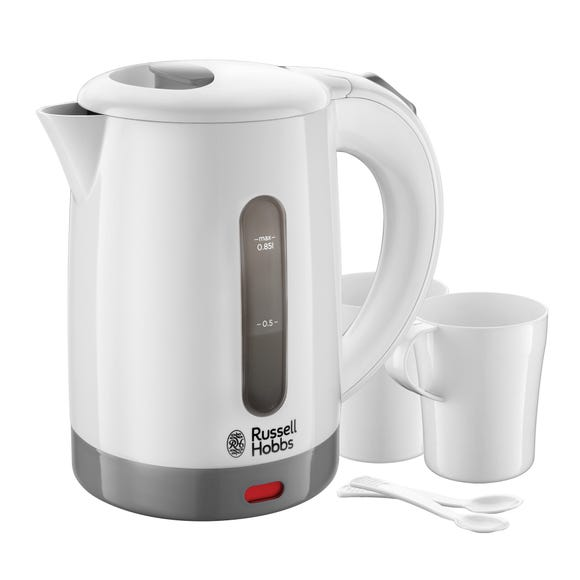 Russell Hobbs 850ml 1kW White Travel Kettle White
