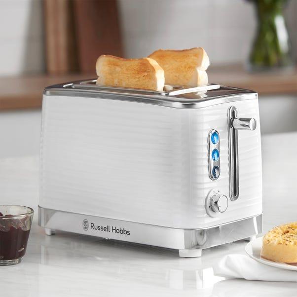 Russell Hobbs Inspire White 2 Slice Toaster White