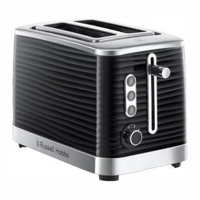 Russell Hobbs Inspire 2 Slice Black Toaster