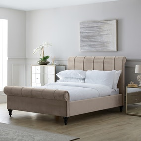 Classic Pleated Bed - Taupe