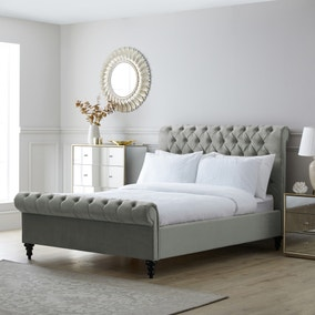 Classic Chesterfield Bed - Grey