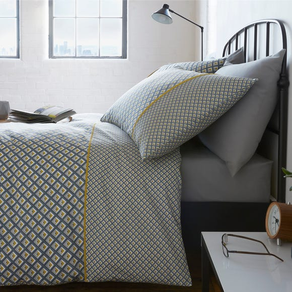 Racing Green Soho Grey Duvet Cover and Pillowcase Set  undefined