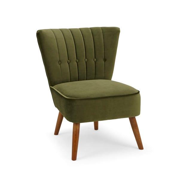 Isla Velvet Cocktail Chair - Olive
