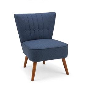 Isla Herringbone Cocktail Chair - Navy