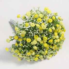 Artificial Million Star Gypsophila Yellow Bundle 30cm