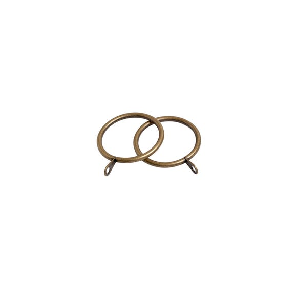 Oslo Pack of 6 Antique Brass Curtain Rings Dia. 38mm Antique Brass