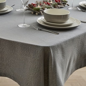 Sparkle Charcoal Tablecloth