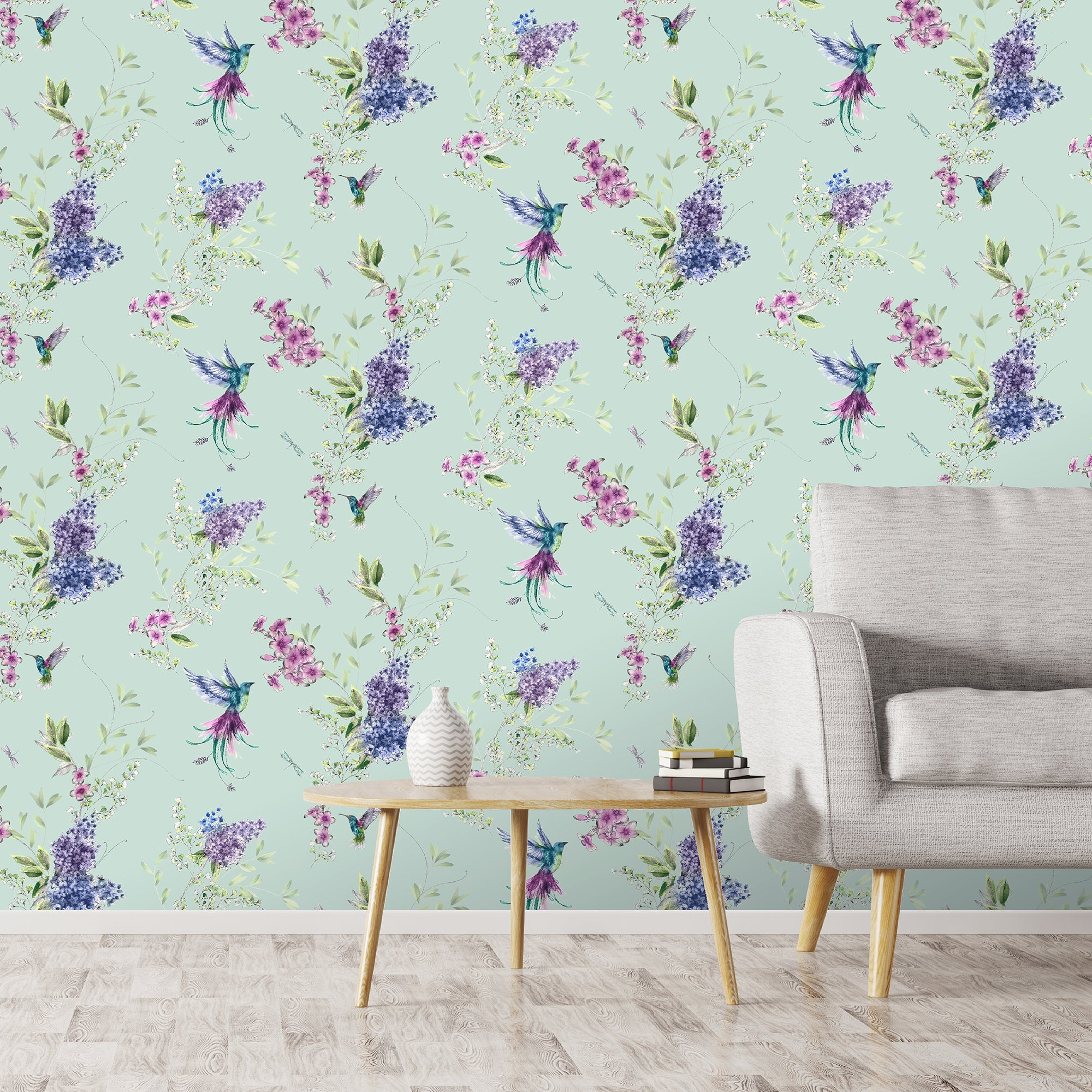 Dorma Emalia Duck Egg Wallpaper Duck Egg Blue