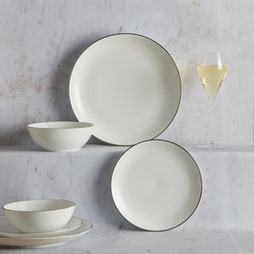 Platinum Band 12 Piece Dinner Set