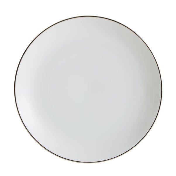 Platinum Band Side Plate White