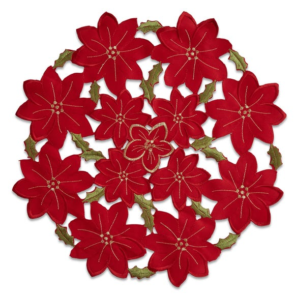 Poinsettia Set of 2 Placemats Red
