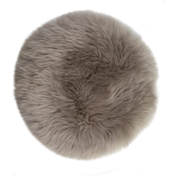 Sheepskin Grey Seat Pad Grey