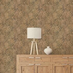 Textured Natural Leopard Wallpaper