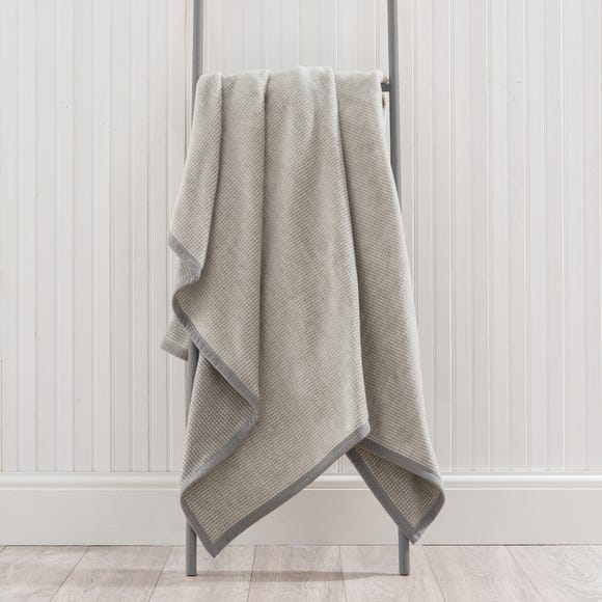 Thermosoft Semi Plain Grey Throw  undefined