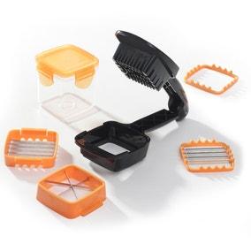 JML Orange Hand-Held Nicer Dicer Quick Chopping Machine