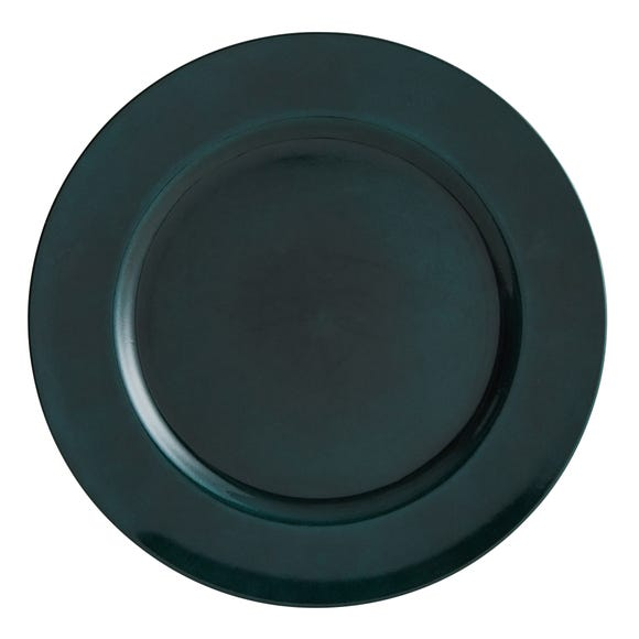 Teal Foil Charger Plate Blue