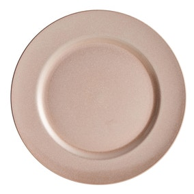 Pink Glitter Charger Plate