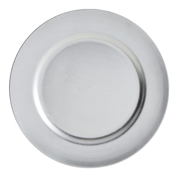 Foil Charger Plate Silver