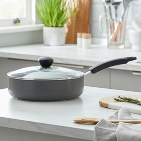 Dunelm Non-Stick Hard Anodised 24cm Saute Pan