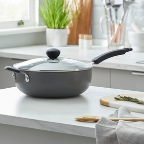 Dunelm Non-Stick Hard Anodised 26cm Everyday Pan