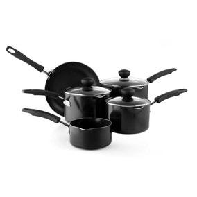 Dunelm Aluminium Non-Stick 5-Piece Pan Set