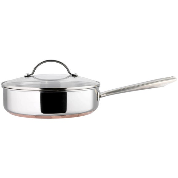 Infinity Copper Base 24cm Saute Pan Silver