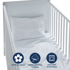 Fogarty Little Sleepers Anti-Allergy 7 Tog Cot Bed Duvet and Pillow Set
