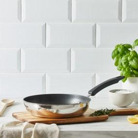 Dunelm Stainless Steel 24cm Frying Pan