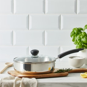 Stainless Steel Covered 24cm Saute Pan