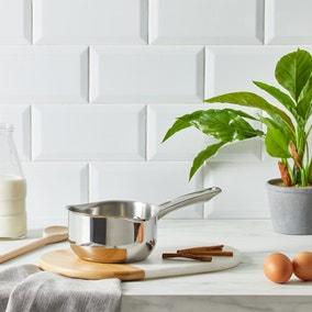 Dunelm Essentials 14cm Stainless Steel Milk Pan