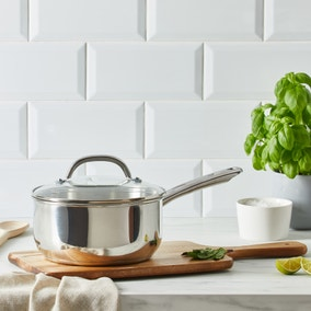 Dunelm Essentials 20cm Stainless Steel Saucepan