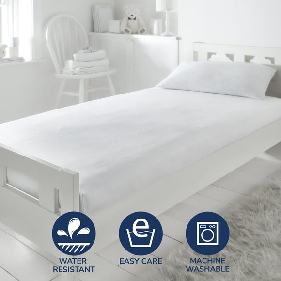 Fogarty Little Sleepers Soft Touch Waterproof Mattress Protector White undefined