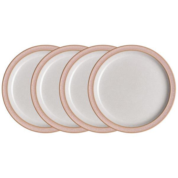 Set of Four Denby Elements Sorbet Pink Side Plates Pink