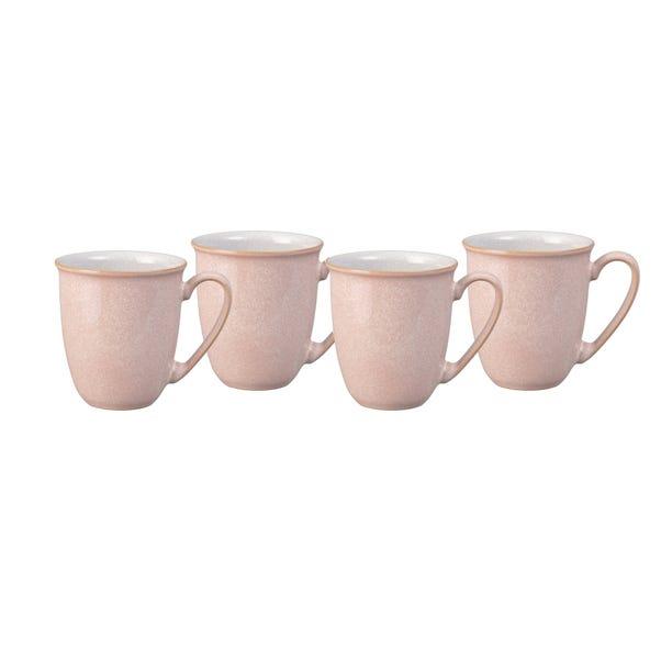Set of Four Denby Elements Sorbet Pink Mugs Pink
