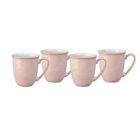 Set of Four Denby Elements Sorbet Pink Mugs