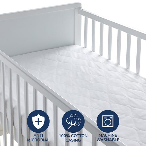 Fogarty Little Sleepers Forever Fresh Antibacterial Mattress Protector White undefined