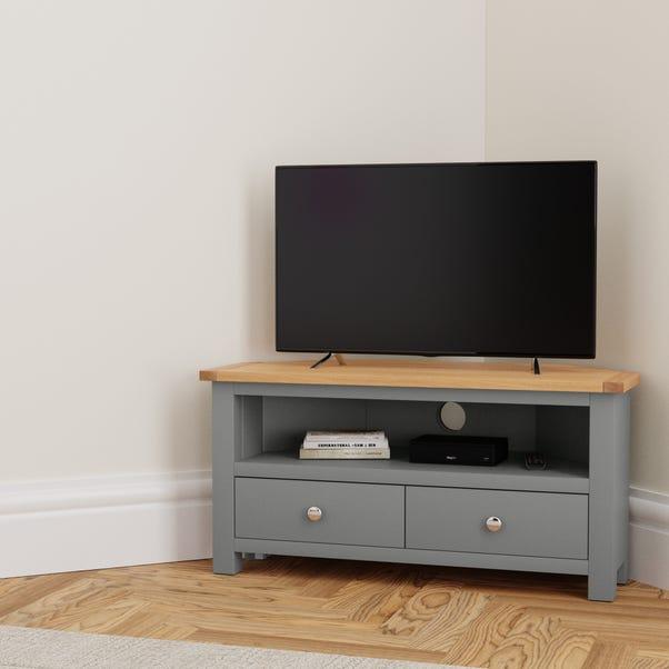 Bromley Slate Corner TV Stand