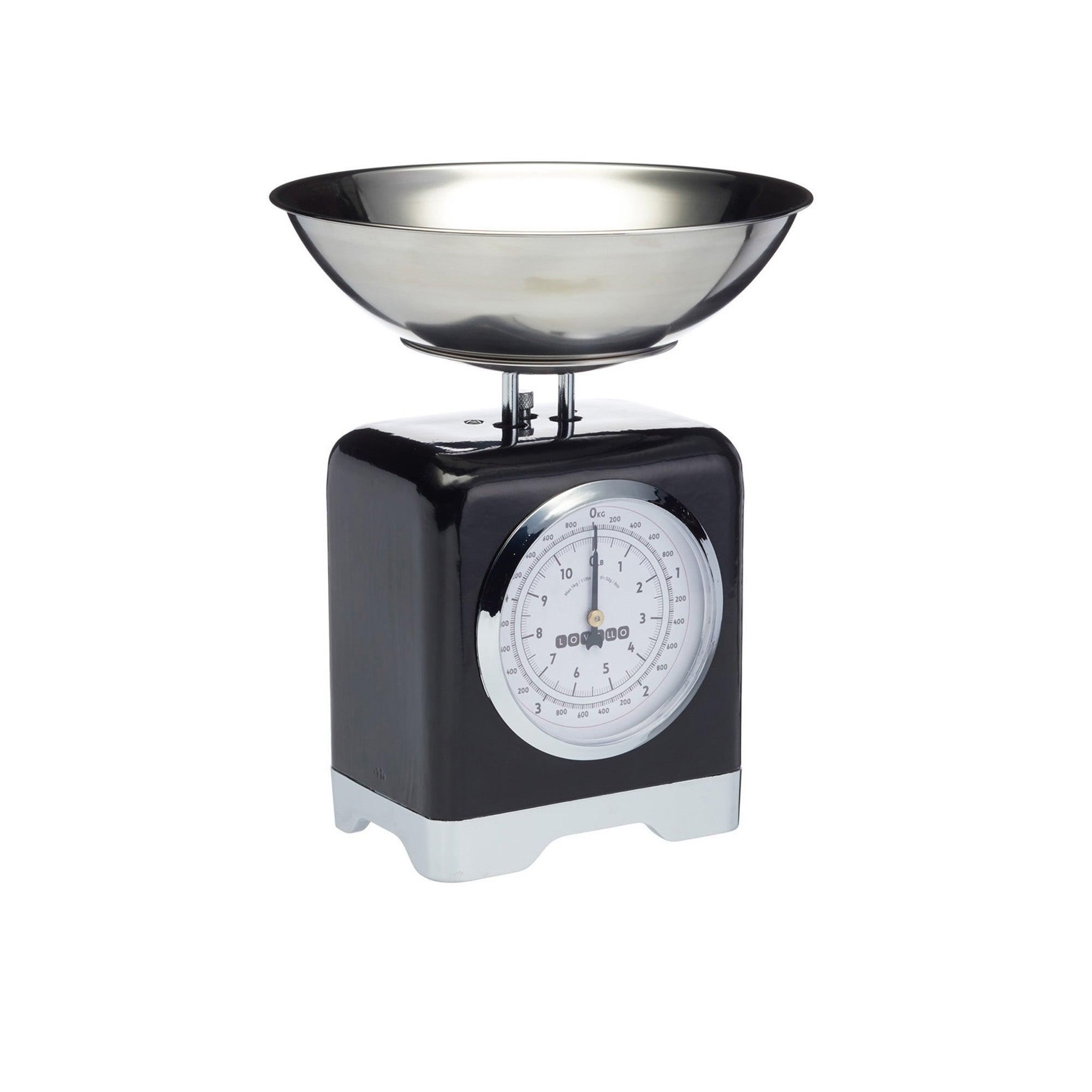 Lovello Mechanical Black Kitchen Scales Black