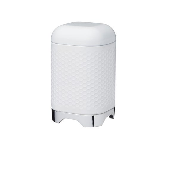 Lovello White Geometric Kitchen Canister White