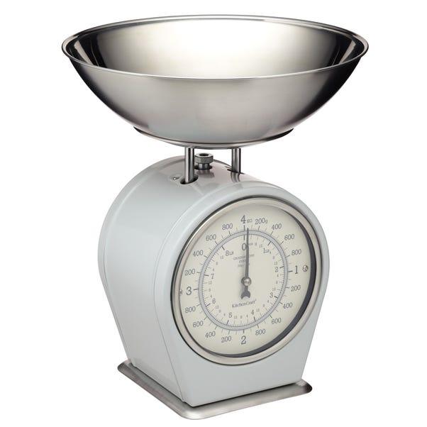 Living Nostalgia Grey Mechanical Kitchen Scales Grey