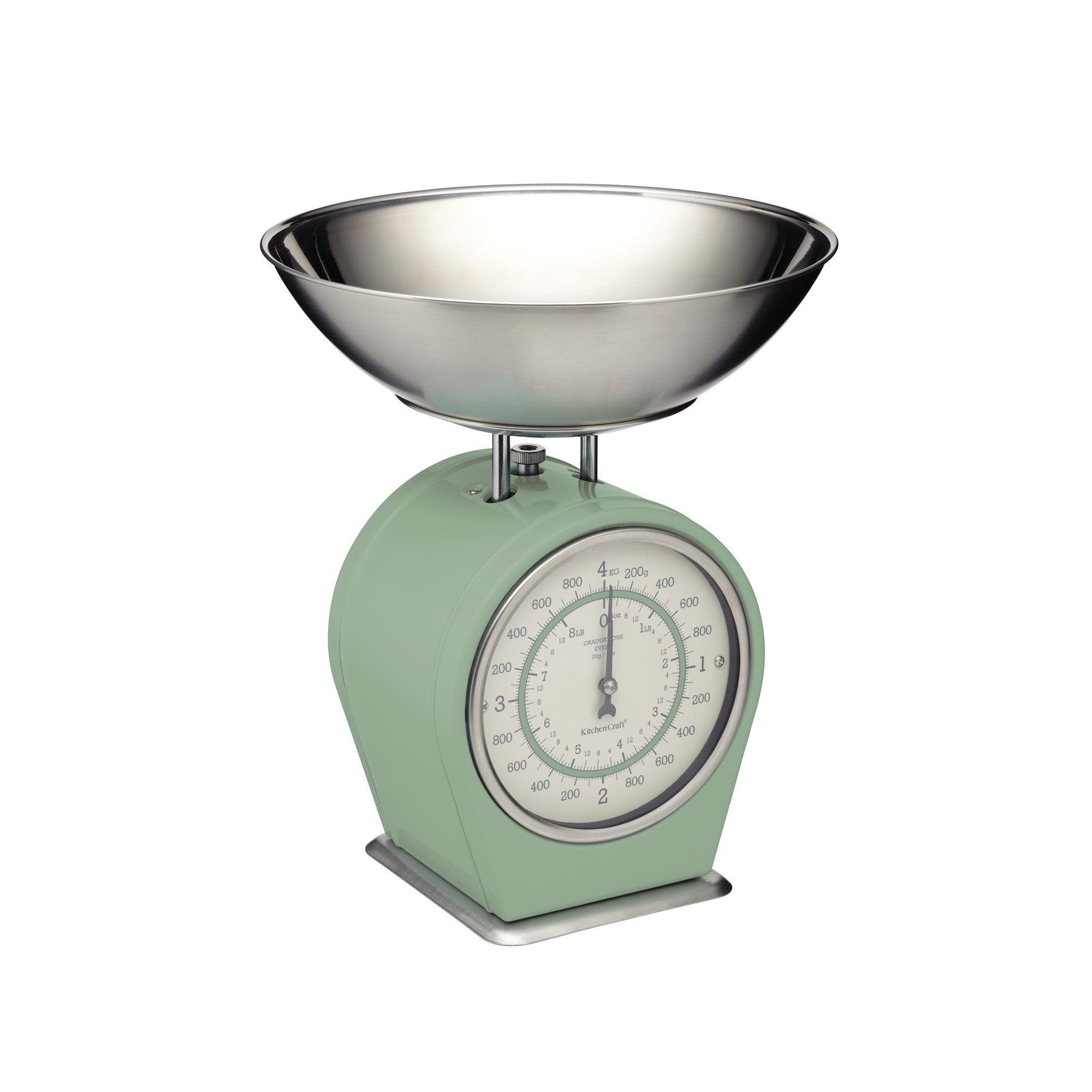 Click to view product details and reviews for Living Nostalgia Green Mechanical Kitchen Scales Green.