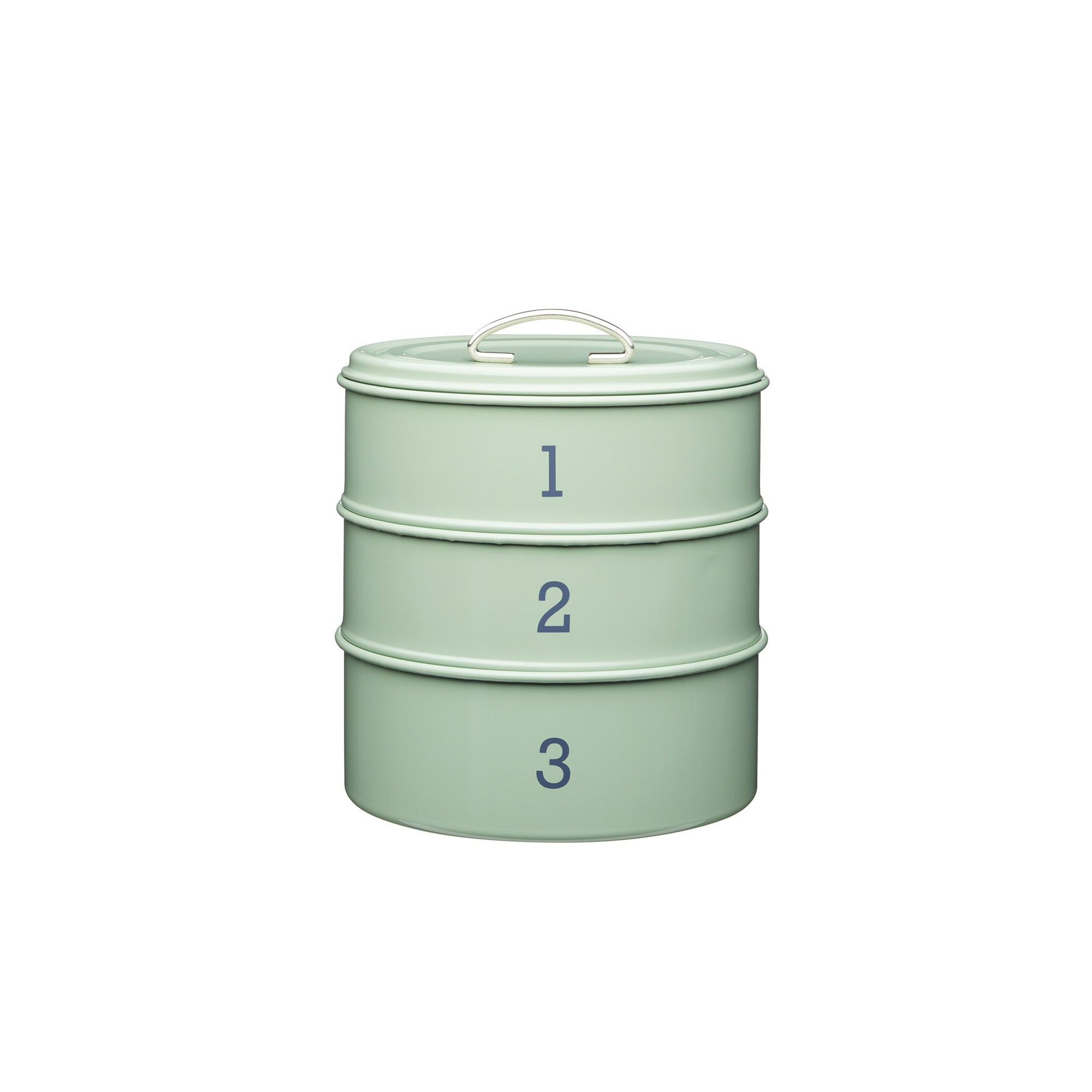 3 Tier Metal Green Cake Tin Green
