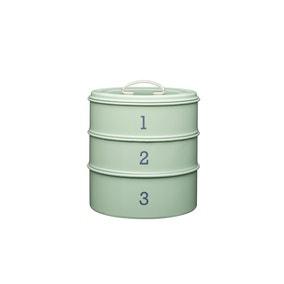 3 Tier Metal Green Cake Tin