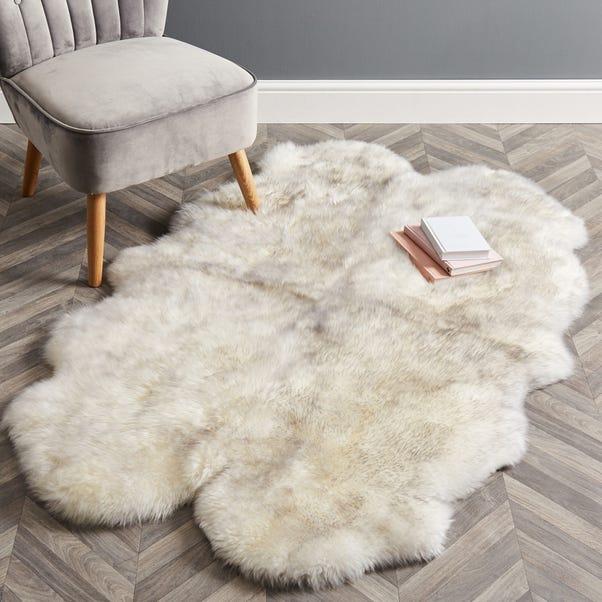 Quad Sheepskin Rug Sheepskin Tipped Grey