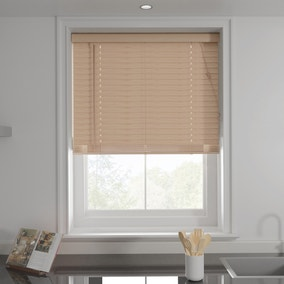 Oak Effect 50mm Slats Venetian Blind